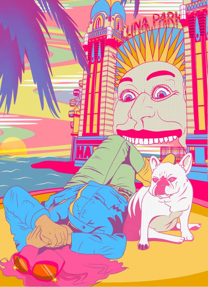 Have fun Portfolio illustration of Luna-Park in Sydney